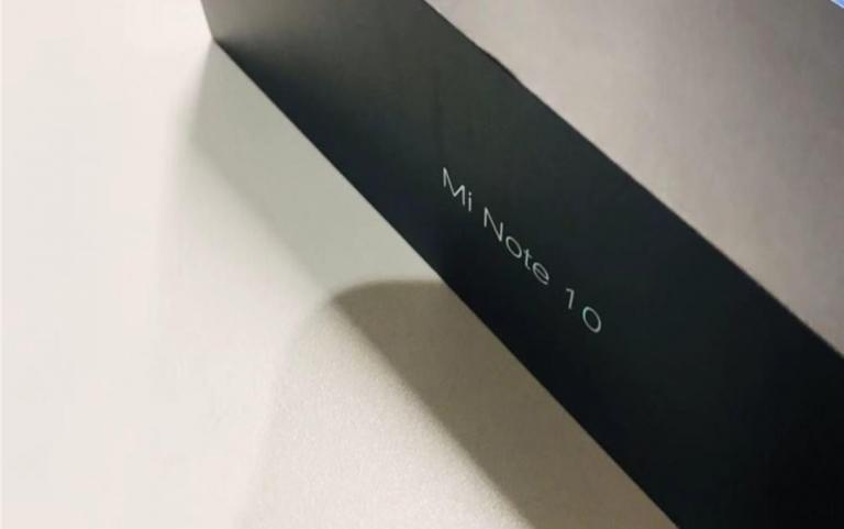 Коробка от Xiaomi Mi Note 10 попала на фото